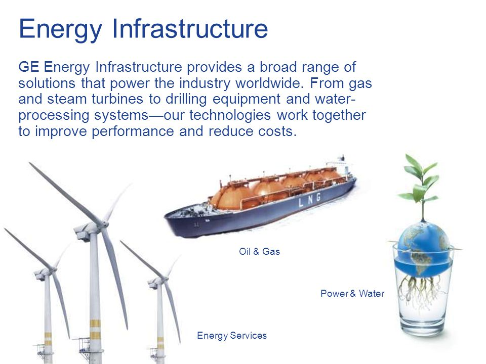 11 / GE Nordic region / 10 October 2014 Energy Infrastructure GE Energy Infrastructure provides a broad range of solutions that power the industry wor