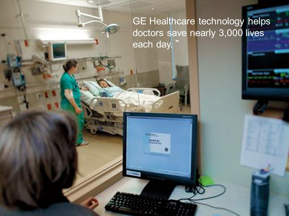 47 / GE Nordic region / 10 October 2014 GE Healthcare technology helps doctors save nearly 3,000 lives each day.