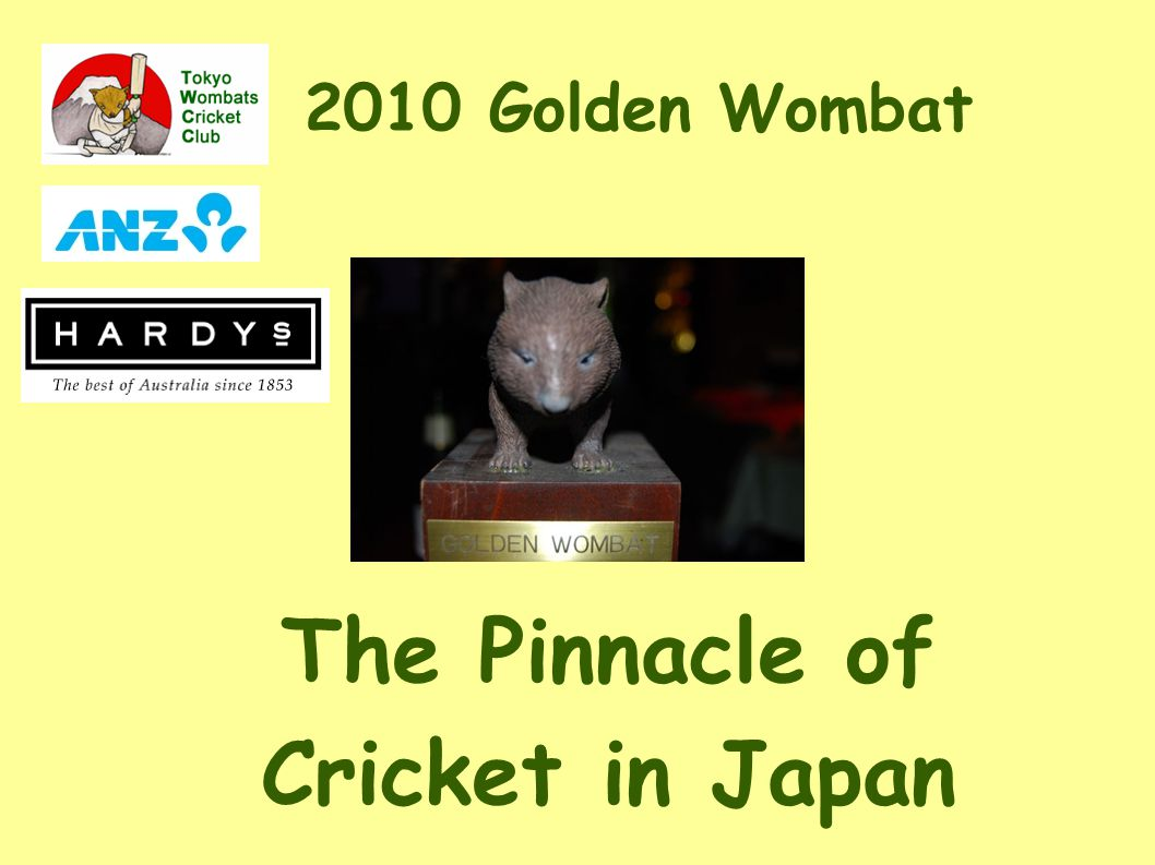 2010 Golden Wombat The Pinnacle of Cricket in Japan