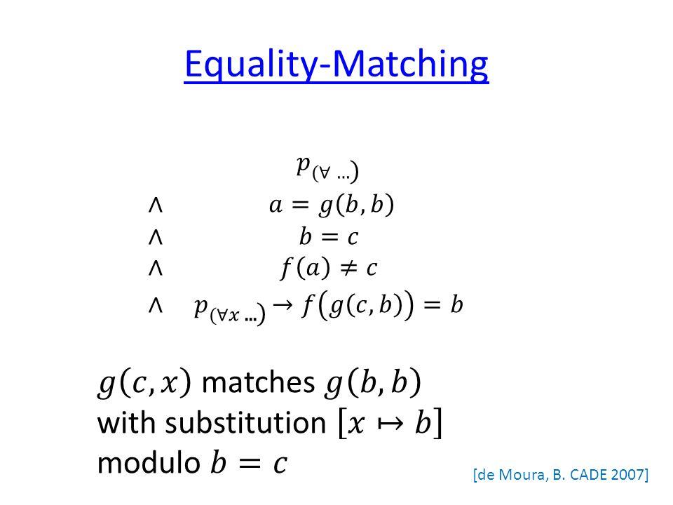 Equality-Matching [de Moura, B. CADE 2007]