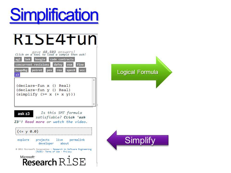Simplification Simplify Logical Formula