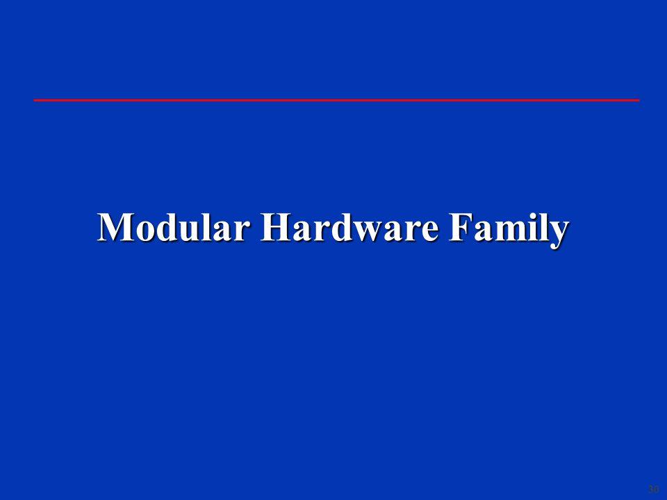 30 Modular Hardware Family