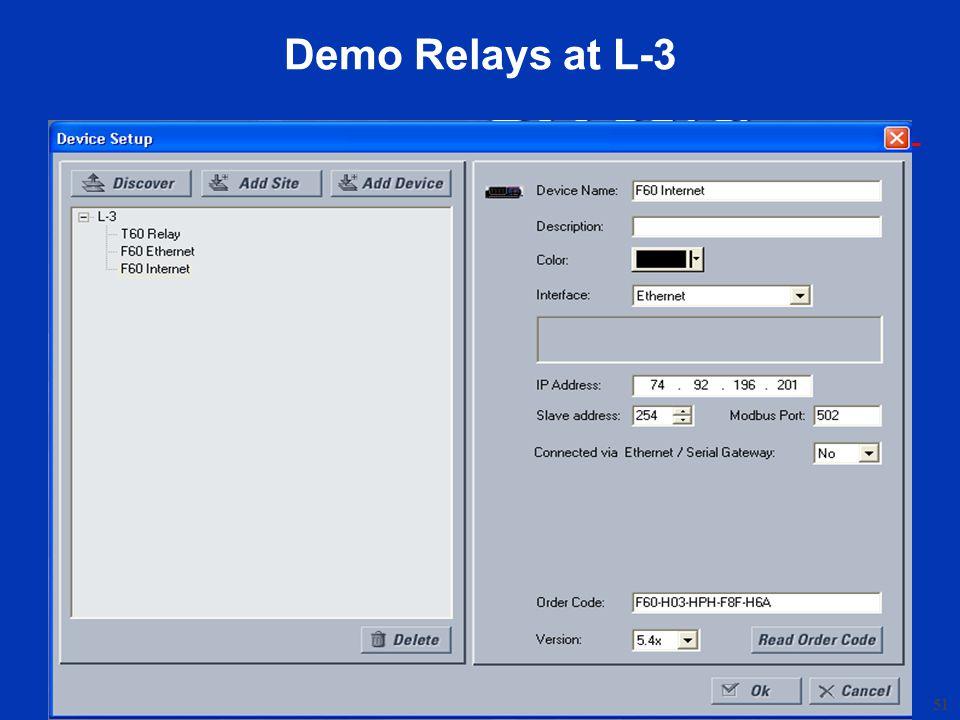 51 Demo Relays at L-3