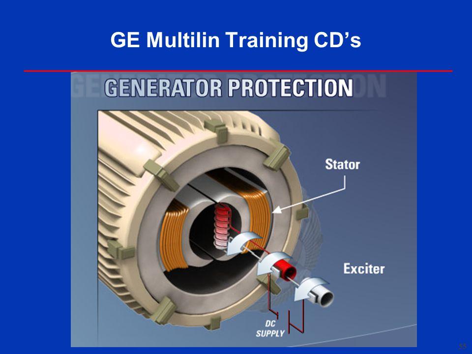 55 GE Multilin Training CD's