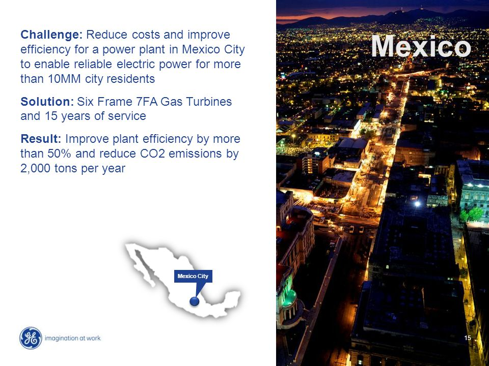 15 Challenge: Reduce costs and improve efficiency for a power plant in Mexico City to enable reliable electric power for more than 10MM city residents