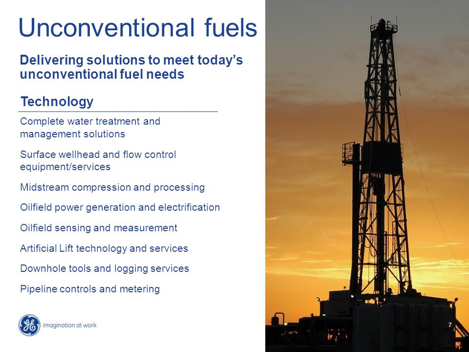 7 Unconventional fuels Delivering solutions to meet today's unconventional fuel needs 7 Technology Complete water treatment and management solutions S