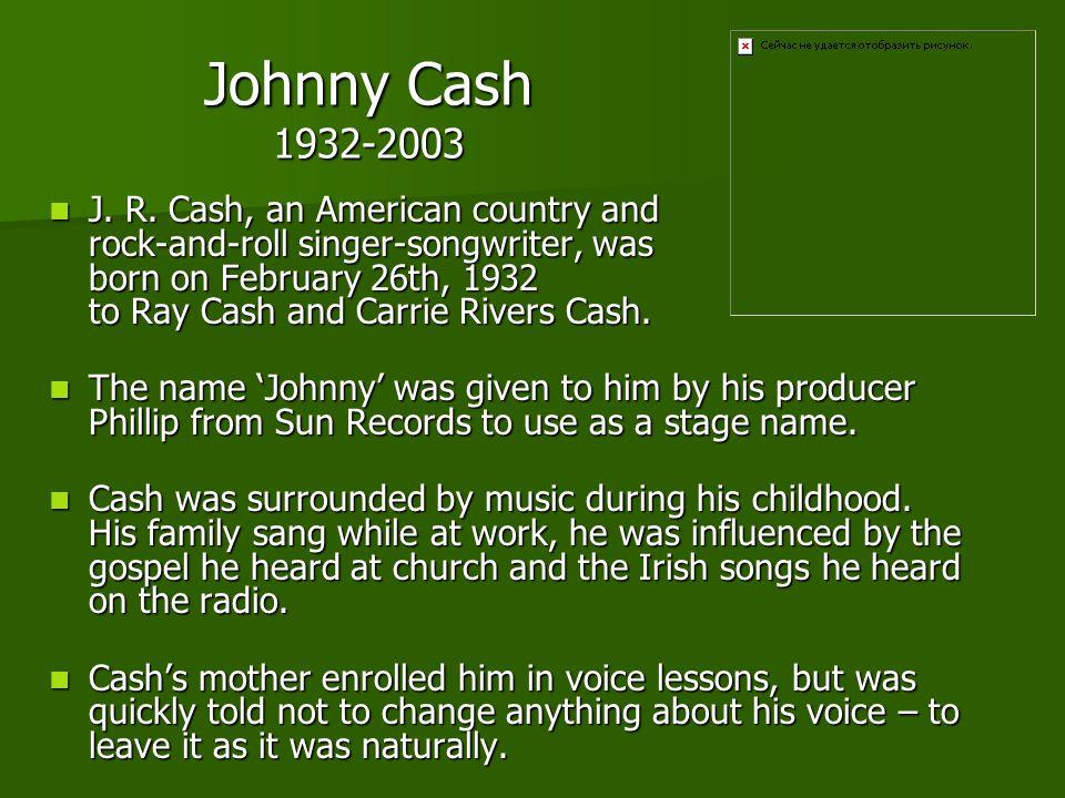Johnny Cash 1932-2003 J.R.
