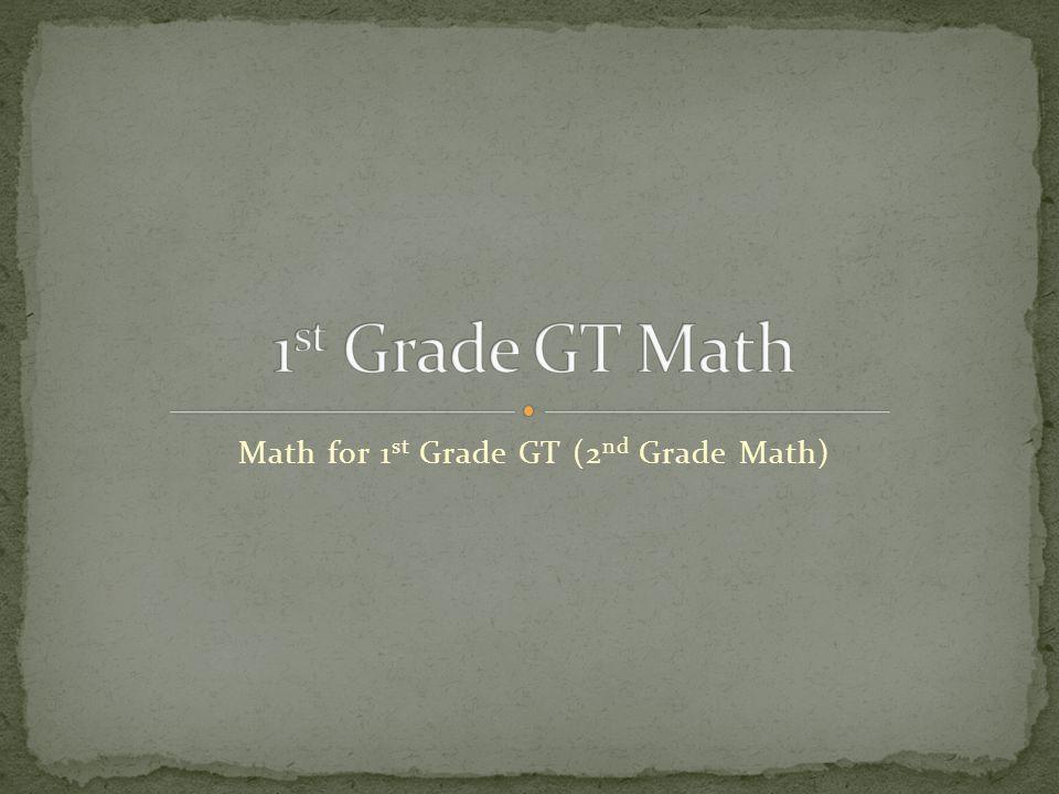 Math for 1 st Grade GT (2 nd Grade Math)