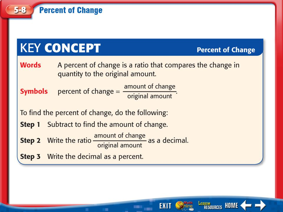 Example 4 Method 2 Find the percent paid first.