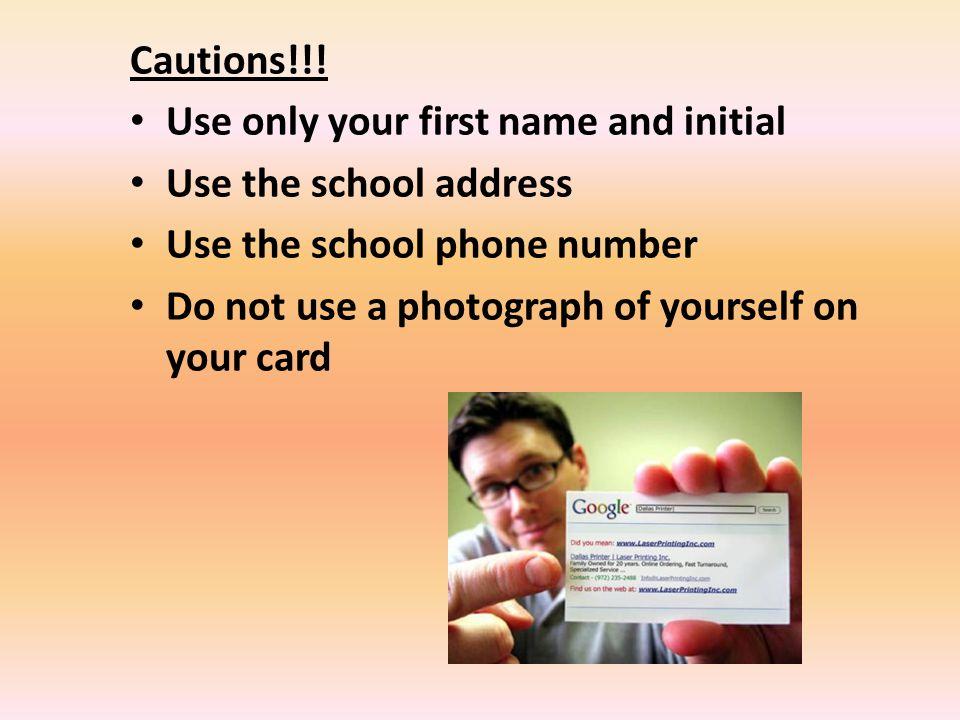Cautions!!.
