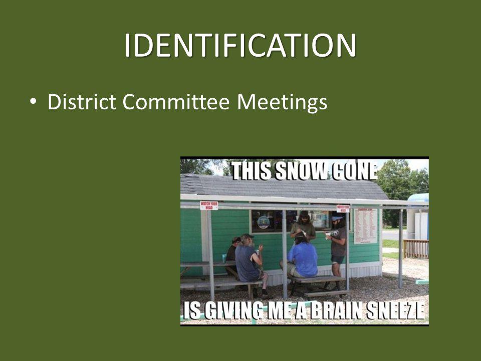 IDENTIFICATION District Committee Meetings