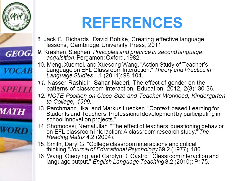 REFERENCES 8. Jack C.