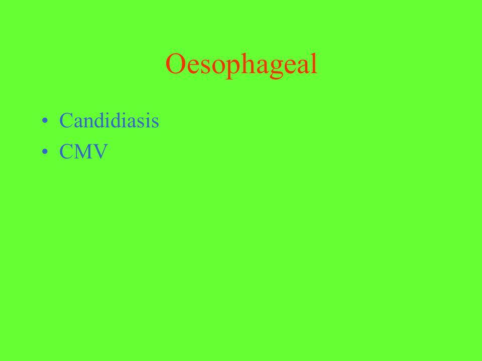 Oesophageal Candidiasis CMV