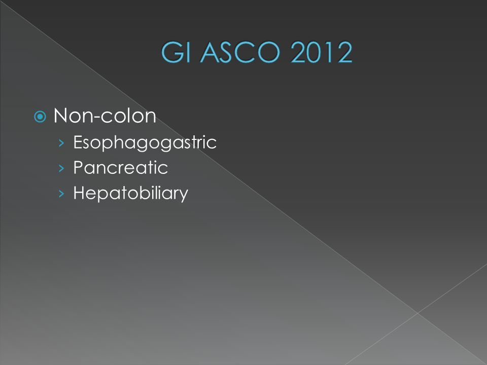  Non-colon › Esophagogastric › Pancreatic › Hepatobiliary