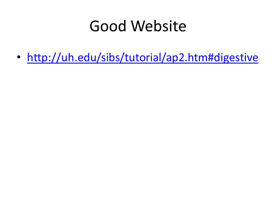 Good Website http://uh.edu/sibs/tutorial/ap2.htm#digestive