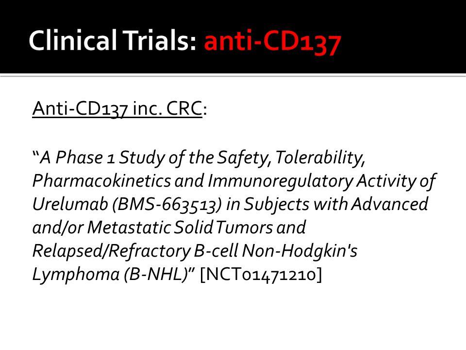 Anti-CD137 inc.