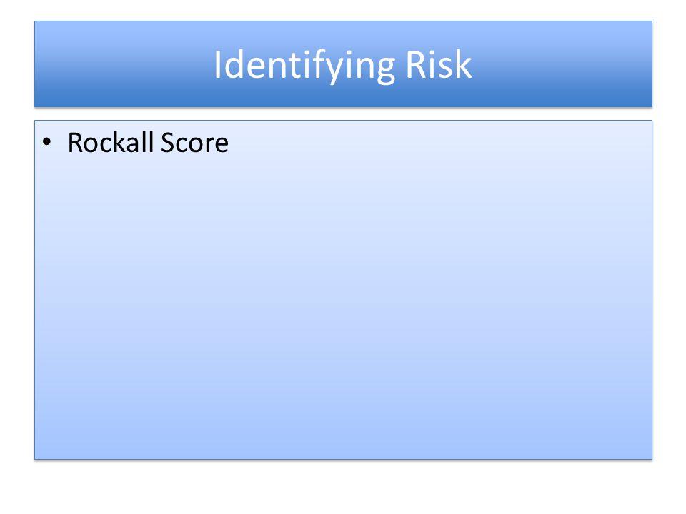 Identifying Risk Rockall Score
