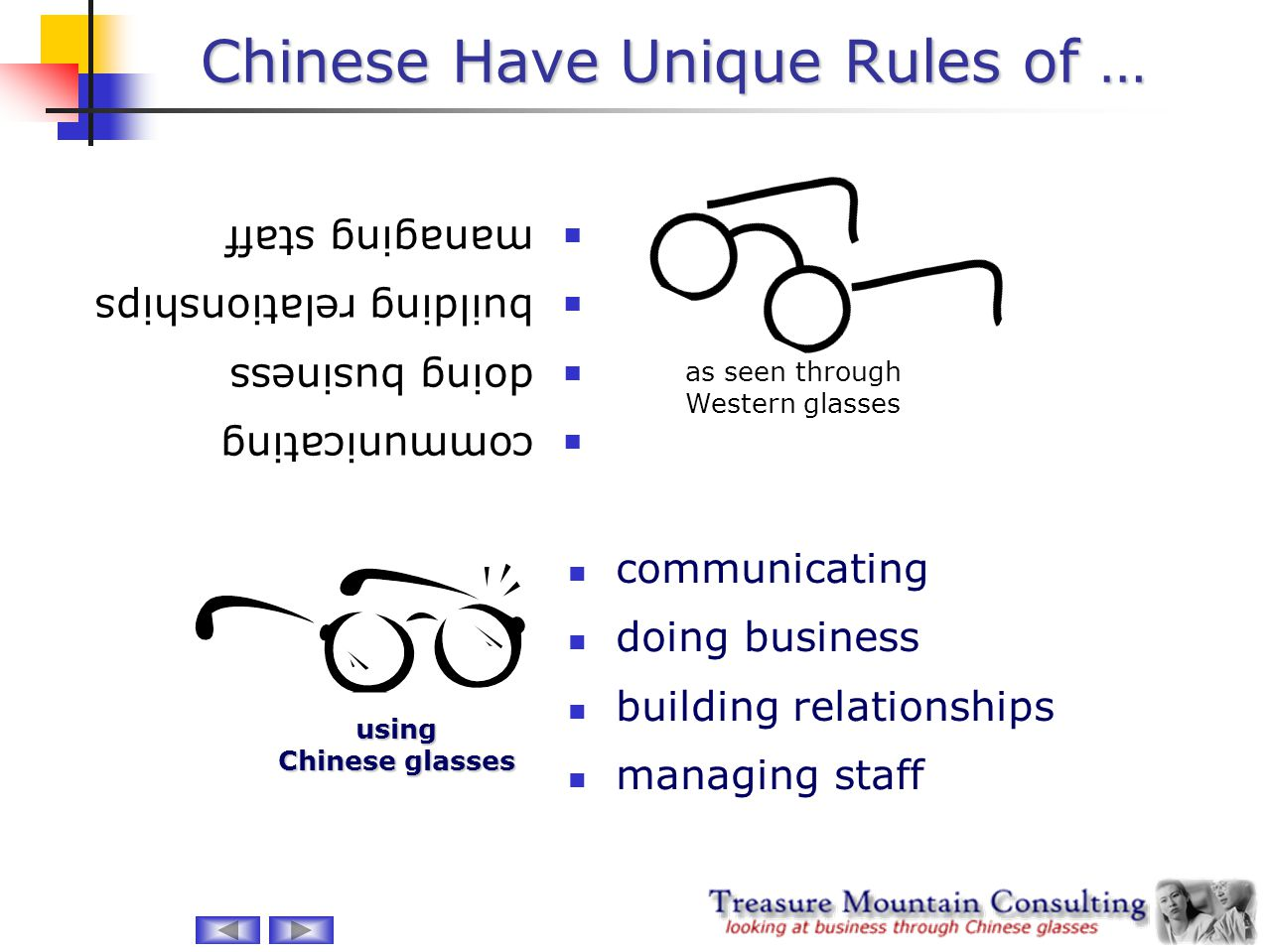 Chinese Have Unique Rules of … communicating doing business building relationships managing staff communicating doing business building relationships