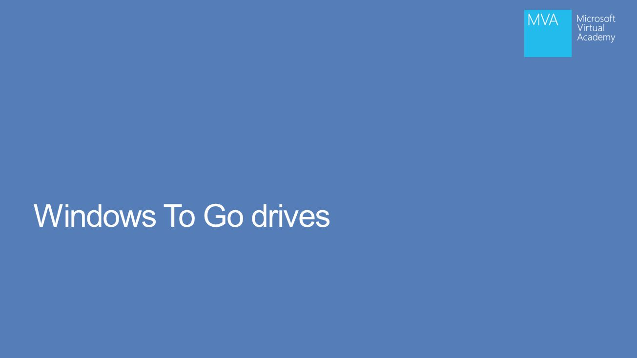 Windows To Go drives