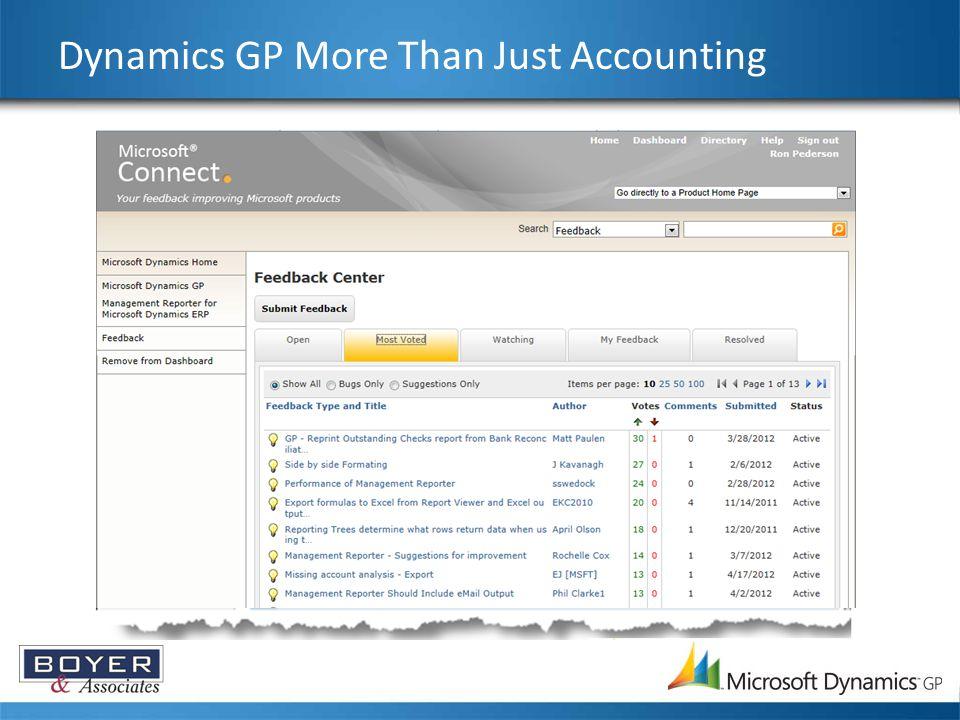 Dynamics GP More Than Just Accounting