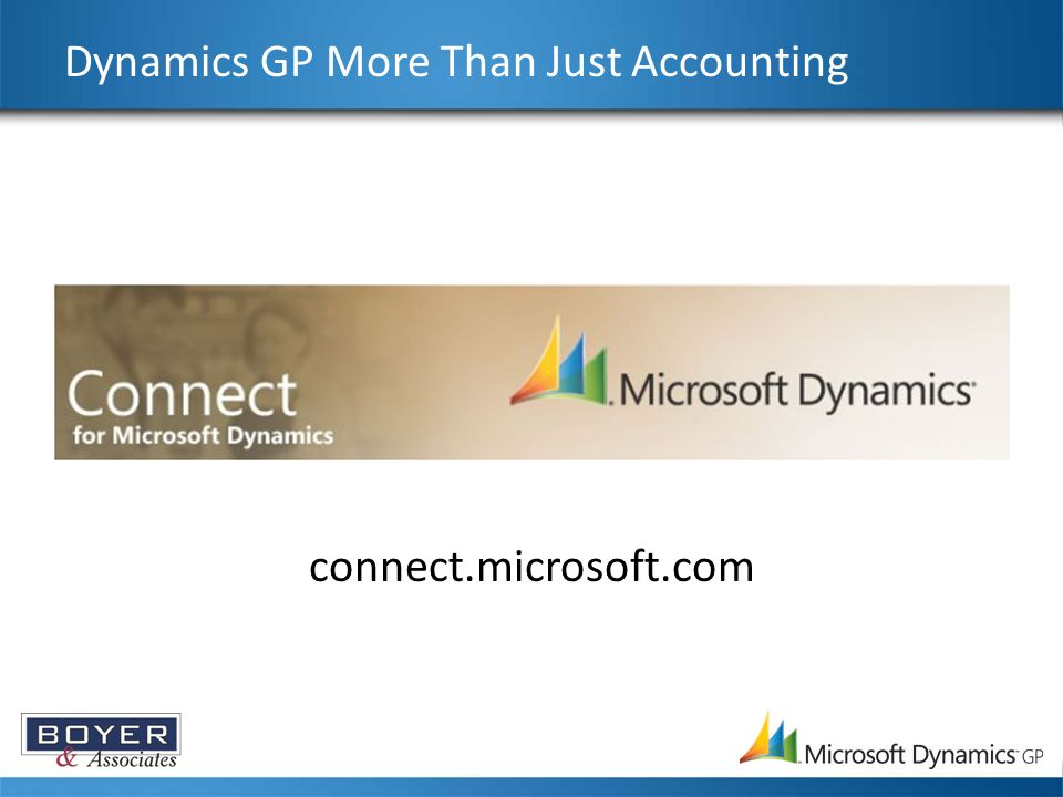 Dynamics GP More Than Just Accounting connect.microsoft.com