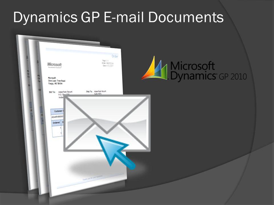 Dynamics GP E-mail Documents