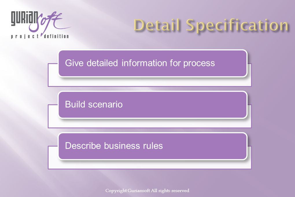 Copyright Guriansoft All rights reserved Give detailed information for processBuild scenarioDescribe business rules