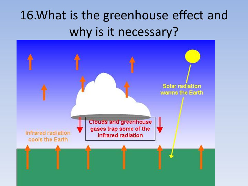 16.What is the greenhouse effect and why is it necessary?