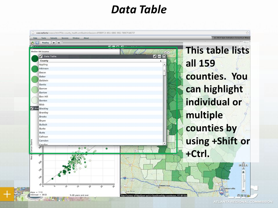 Data Table This table lists all 159 counties.