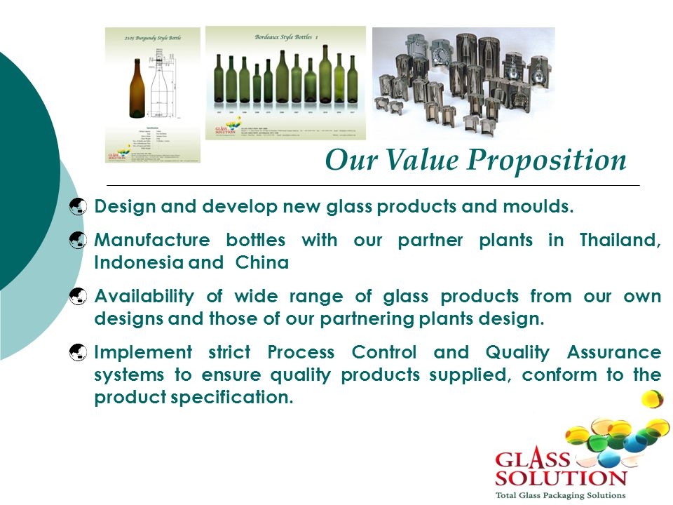  Design and develop new glass products and moulds.