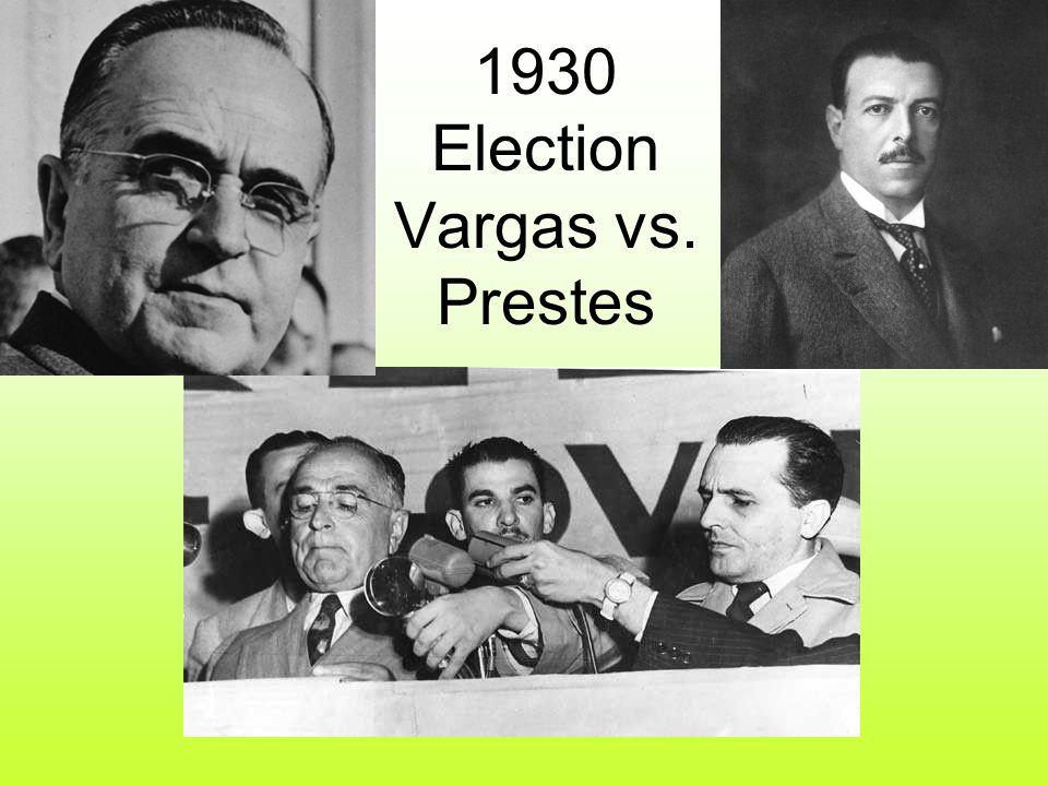 1930 Election Vargas vs. Prestes