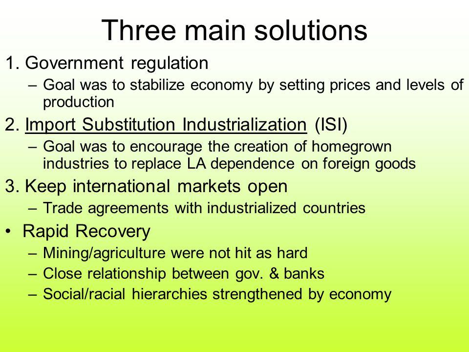 Three main solutions 1.