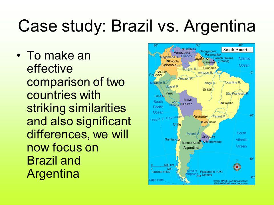 Case study: Brazil vs.