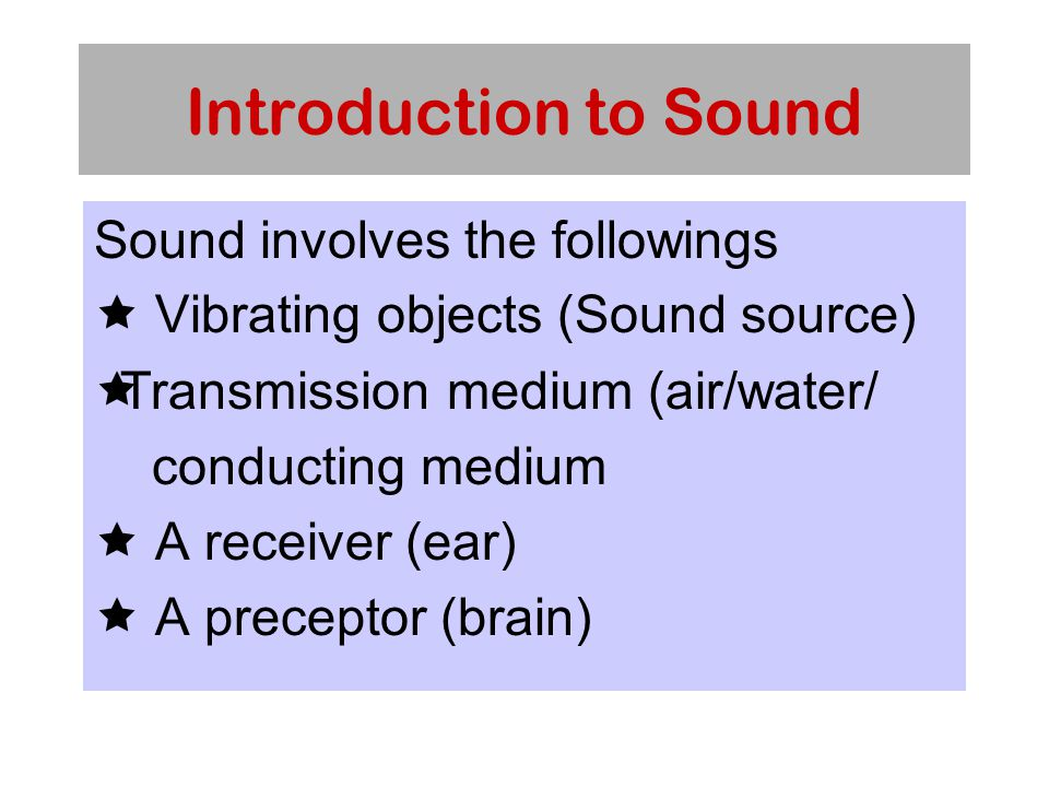 Introduction to Sound Sound wave vary in loudness (measured in decibels or dB) and in frequency or pitch (vibration per second, measured in Hertz or Hz.