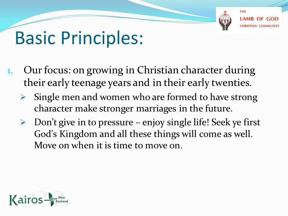 Basic Principles: 1.