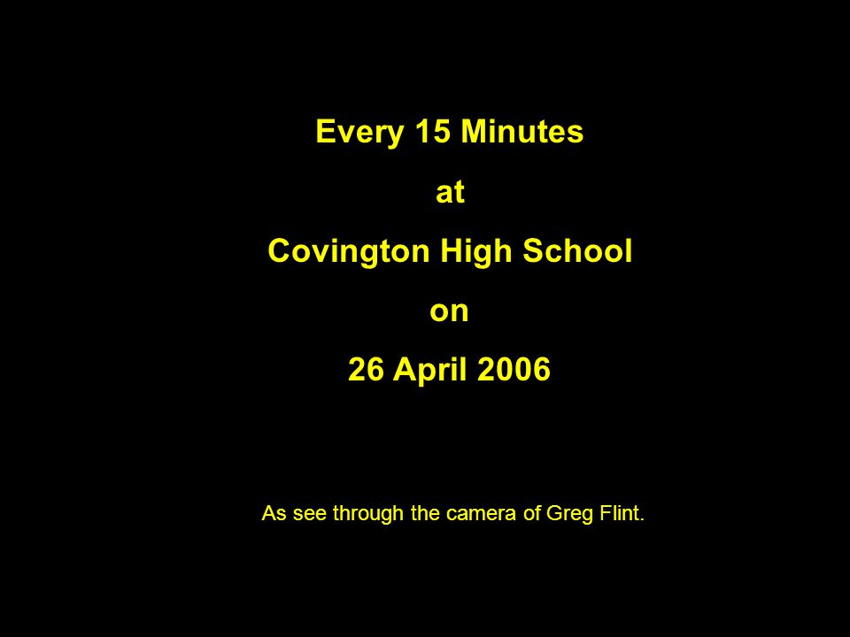26 April 2006 – Every 15 Minutes at Covington High School – Through the camera of Greg Flint The Drunk Driver Prepares To Testify For Himself