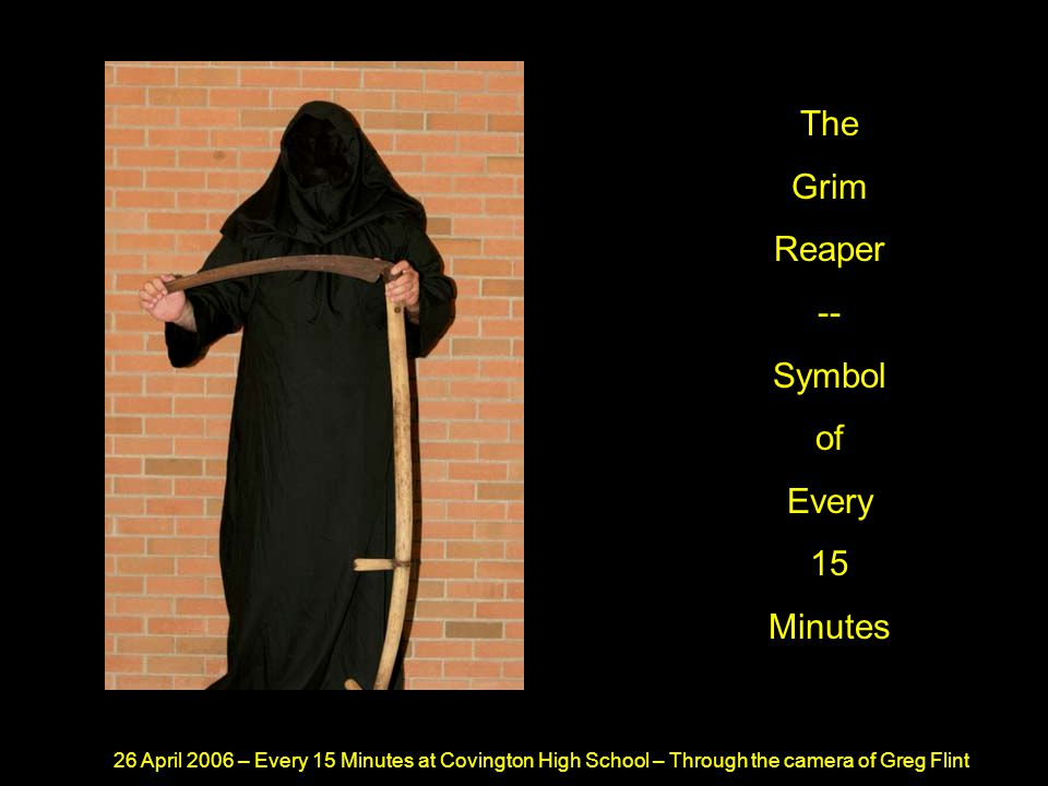 26 April 2006 – Every 15 Minutes at Covington High School – Through the camera of Greg Flint As He Finished Speaking He Knew The Sentence Would Be Tough