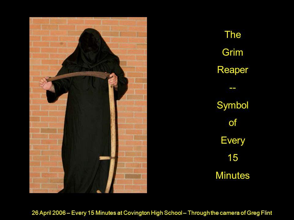 26 April 2006 – Every 15 Minutes at Covington High School – Through the camera of Greg Flint He Then Has His Mug Shot Taken