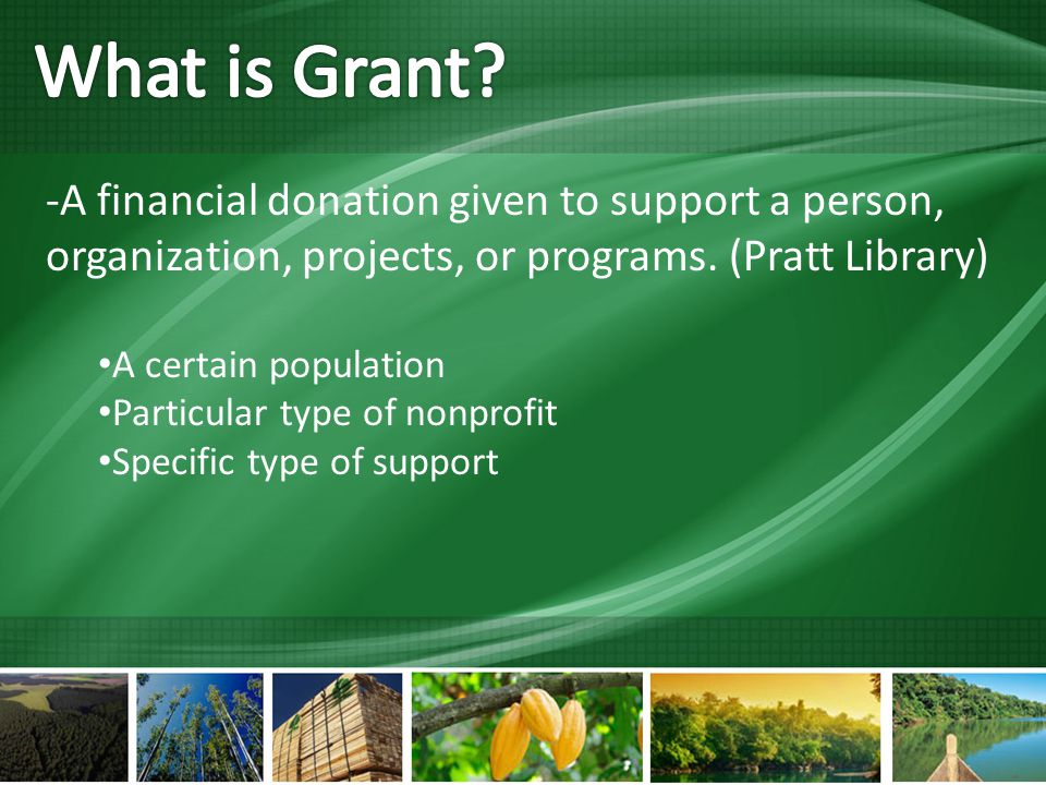 -A financial donation given to support a person, organization, projects, or programs.