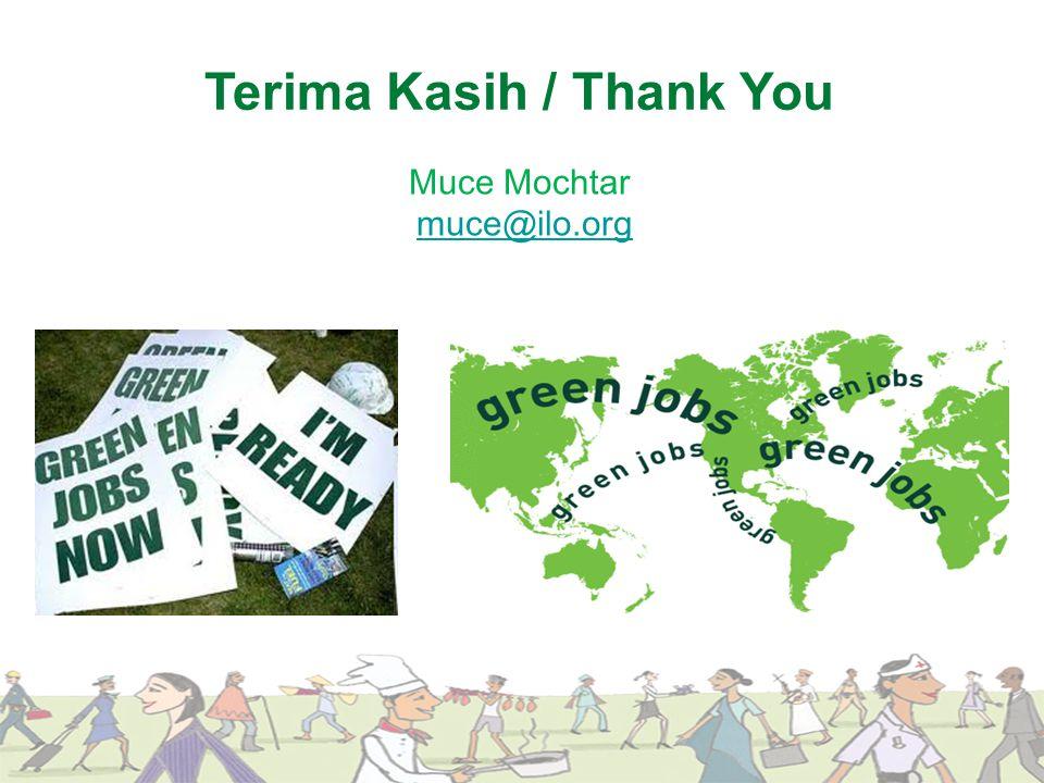Terima Kasih / Thank You Muce Mochtar muce@ilo.org