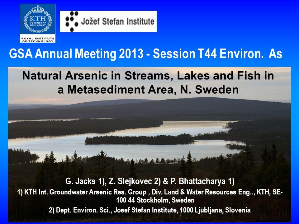2014-10-101 G. Jacks 1), Z. Slejkovec 2) & P. Bhattacharya 1) 1) KTH Int.