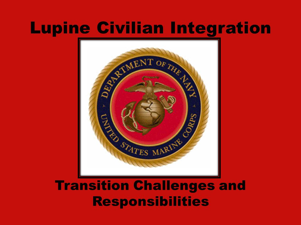 Lupine Civilian Integration Transition Challenges and Responsibilities