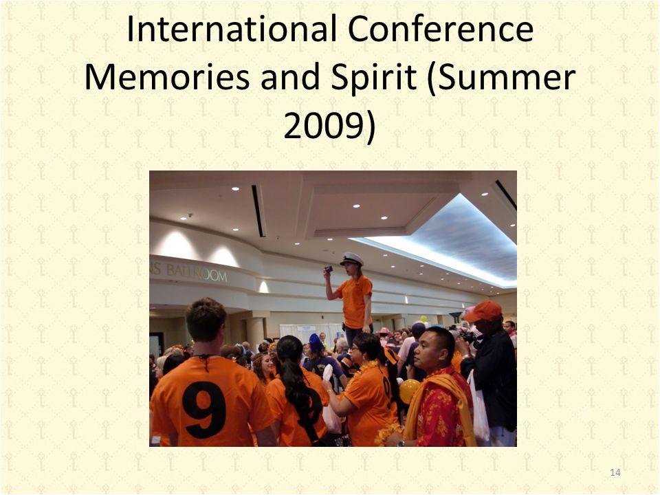 International Conference Memories and Spirit (Summer 2009) 14