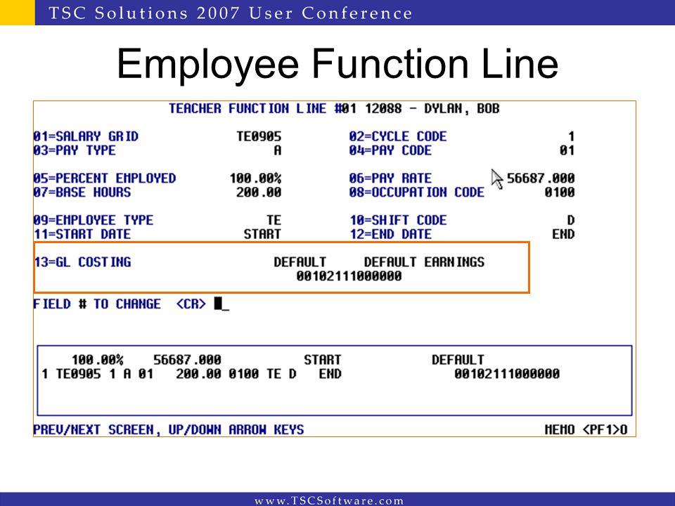 Employee Function Line