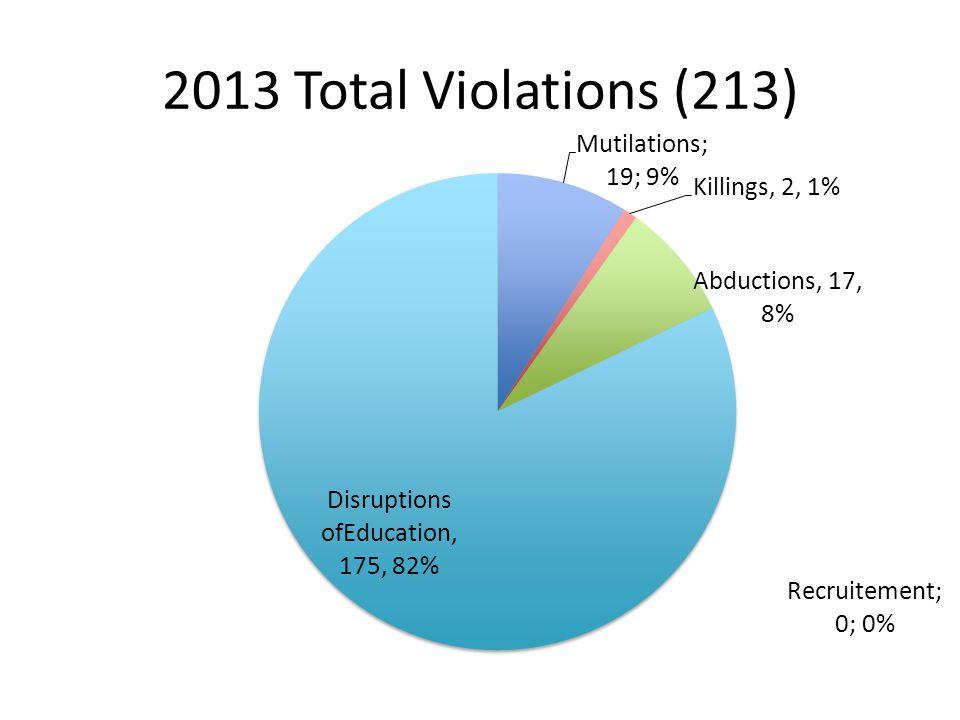 2013 Total Violations (213)