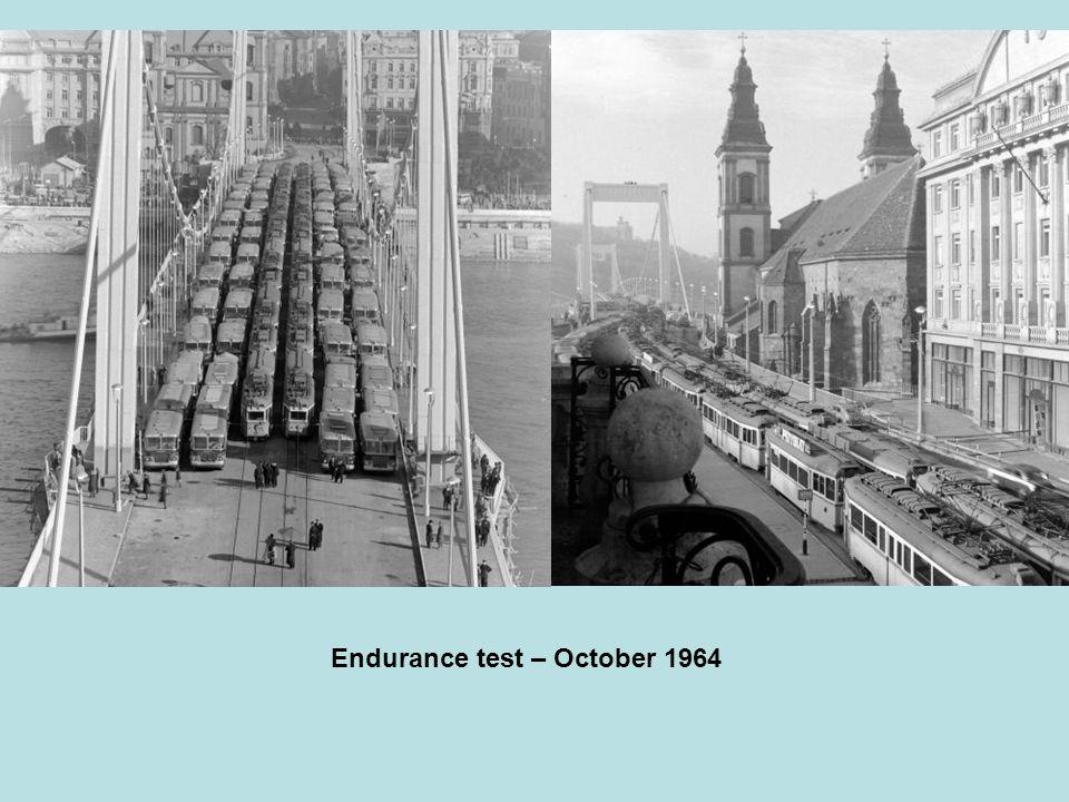 Construction of the new Elisabeth bridge, 1961 - 1964