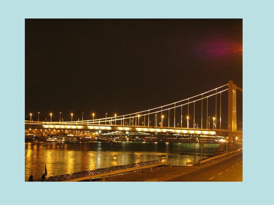 Hungary-Japan Jubilee Year Elisabeth bridge Illumination Project – Testing begins, Autumn 2009