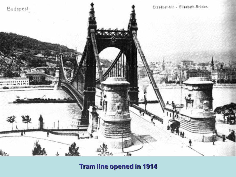 The most beautiful chain bridge in Europe at the beginning of the 20th century