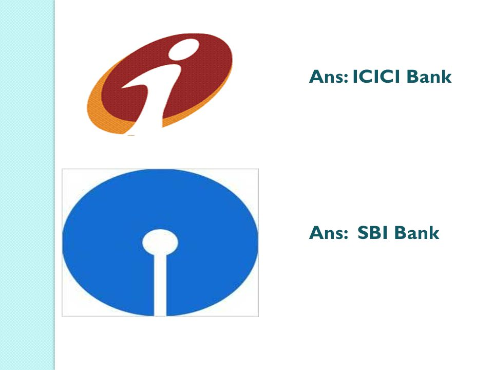 Ans: ICICI Bank Ans: SBI Bank