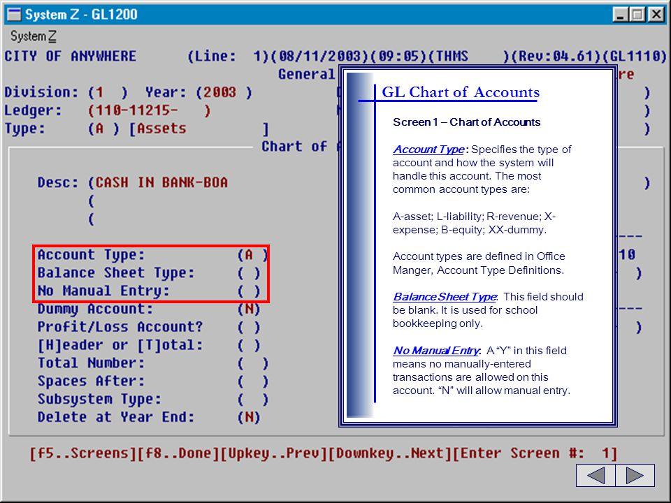 GL Period Balances Press for Account Analysis.